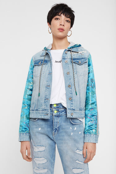 Jean and oriental patch jacket | Desigual