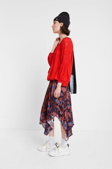 Bluse mit aufgestickten Mandalas | Desigual