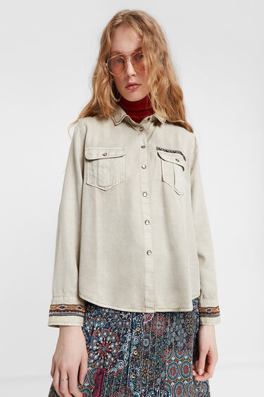 Tencel™ shirt ethnic friezes | Desigual