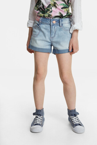 Jean shorts with heart