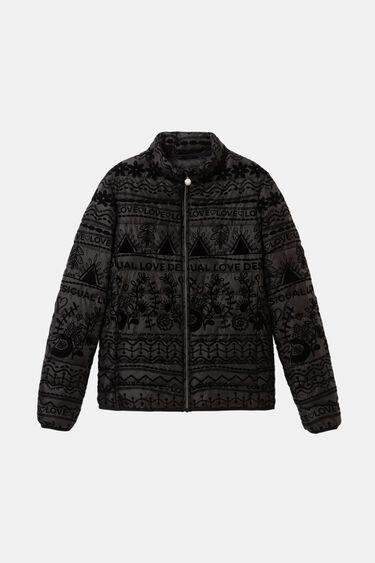 Velvet padded print jacket | Desigual