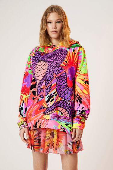 Oversize-Kapuzen-Sweater Schlangen | Desigual