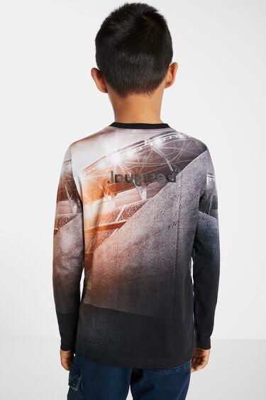 T-shirt coton print à photographie | Desigual