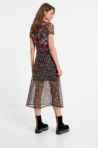 Flowers animal print dress | Desigual