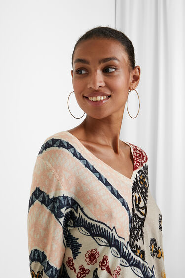 Pull maille floral | Desigual