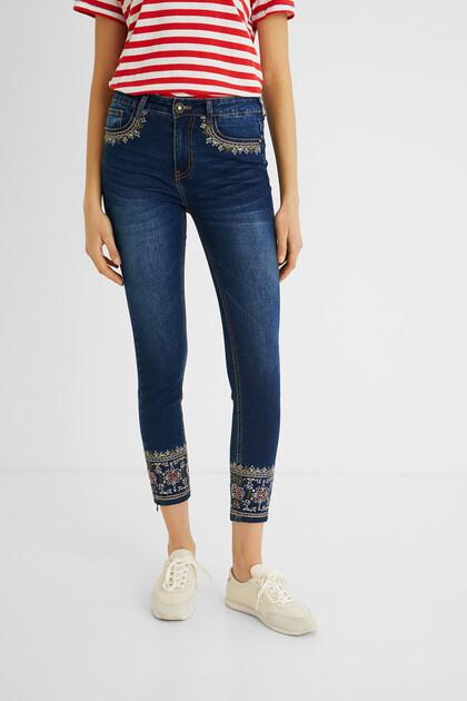 Pantalons texans skinny exòtics