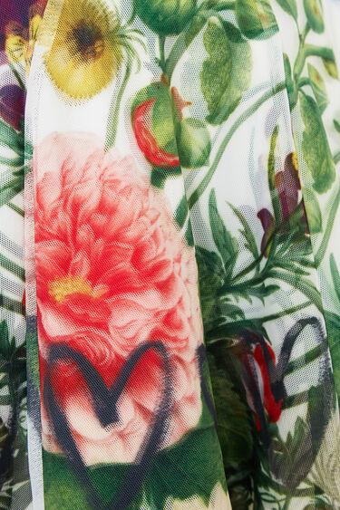 Short printed mesh layered skirt | Desigual