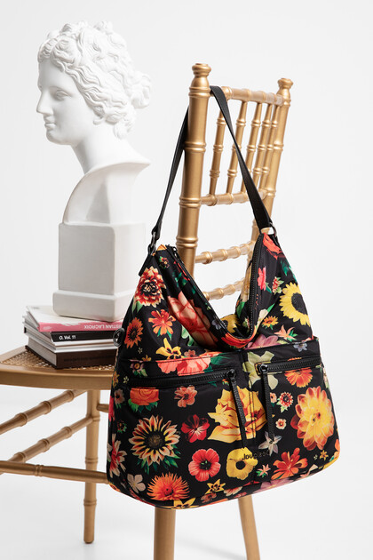 Square nylon floral bag
