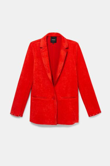Orange faux suede blazer | Desigual
