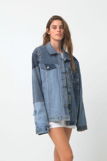 Upcycled patch denim jacket | Desigual