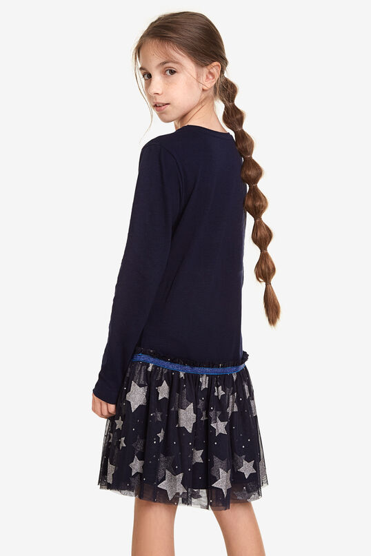 T-shirt dress with tulle skirt and stars | Desigual