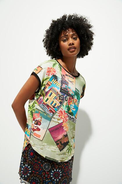 T-shirt short sleeve post cards