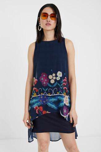 Mehrlagiges Kleid mit Blumenmuster