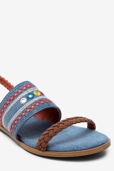 Geborduurde denim sandalen   Desigual