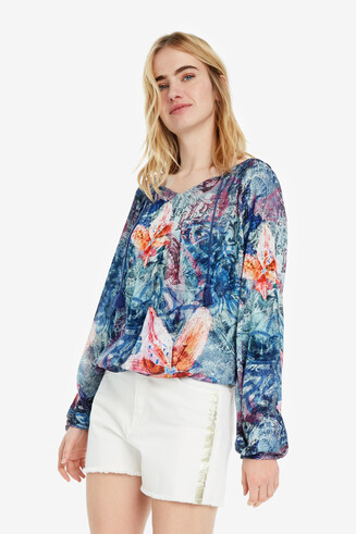 Floral Blue Blouse Silke