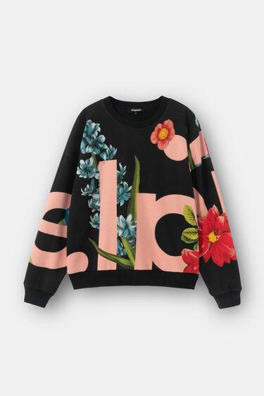Fleece sweatshirt met bloemen | Desigual