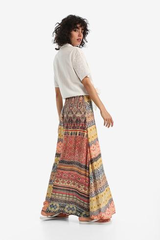 Ethnic print maxi skirt Felicity