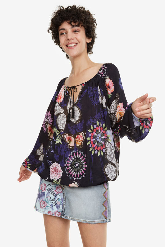Blouse met boothals Candace | Desigual