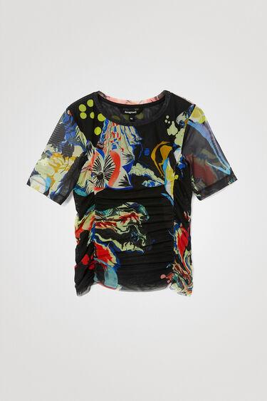 T-shirt slim plissé - DESIGNED BY M. CHRISTIAN LACROIX | Desigual