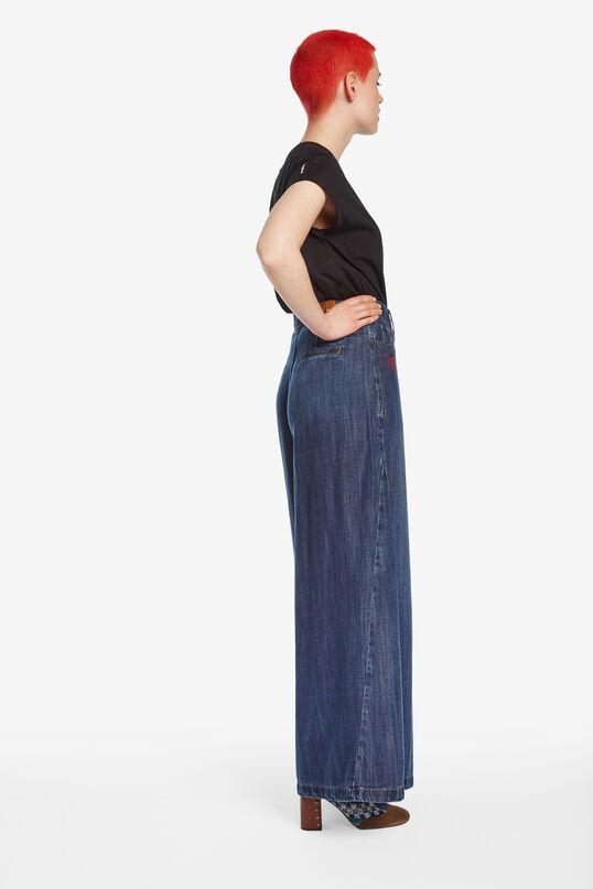 Pantalon jean palazzo | Desigual