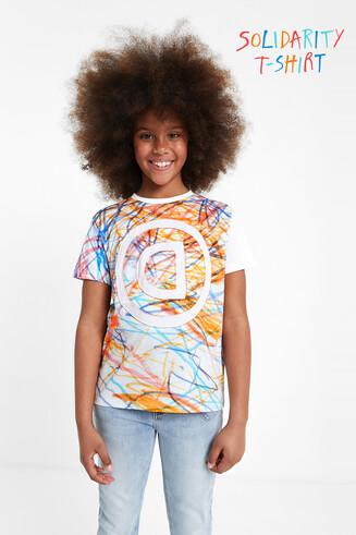 T-shirt met veelkleurige bolimania