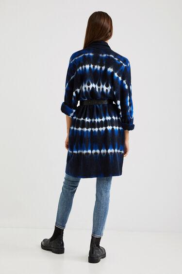 Open knit jacket tie-dye | Desigual