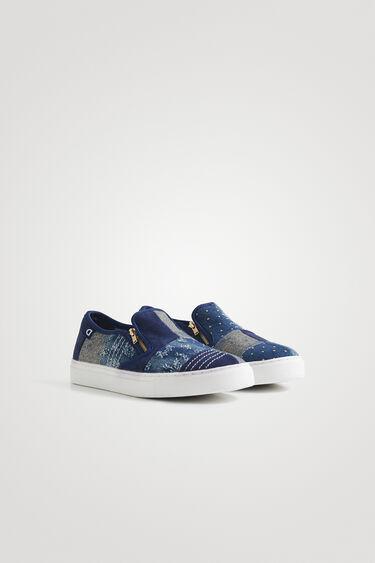 Sneaker slip-on denim cerniera | Desigual