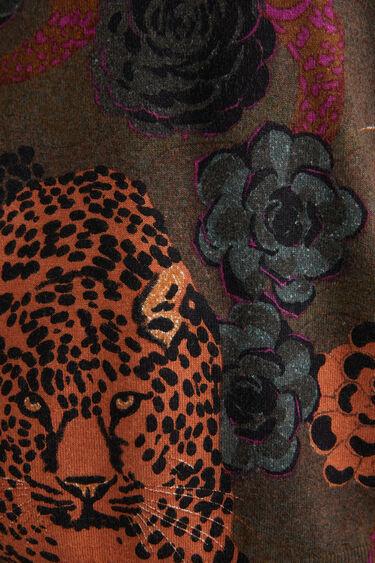 Sweter z dzianiny ze zwierzęcym nadrukiem | Desigual