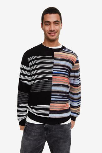 Striped half-orange jumper