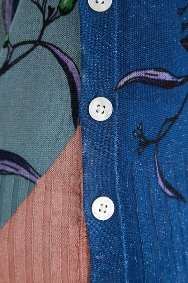 Feinstrick-Pullover seitliche Knöpfe   Desigual