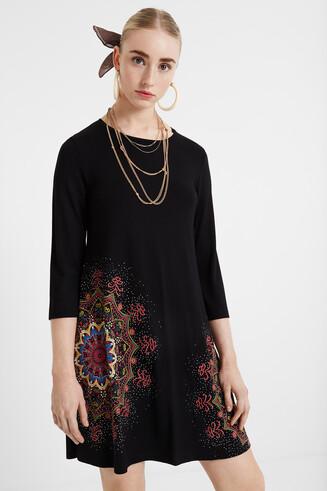 Flared mandala dress