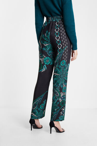 Pantalon fluide à imprimé à mandalas | Desigual
