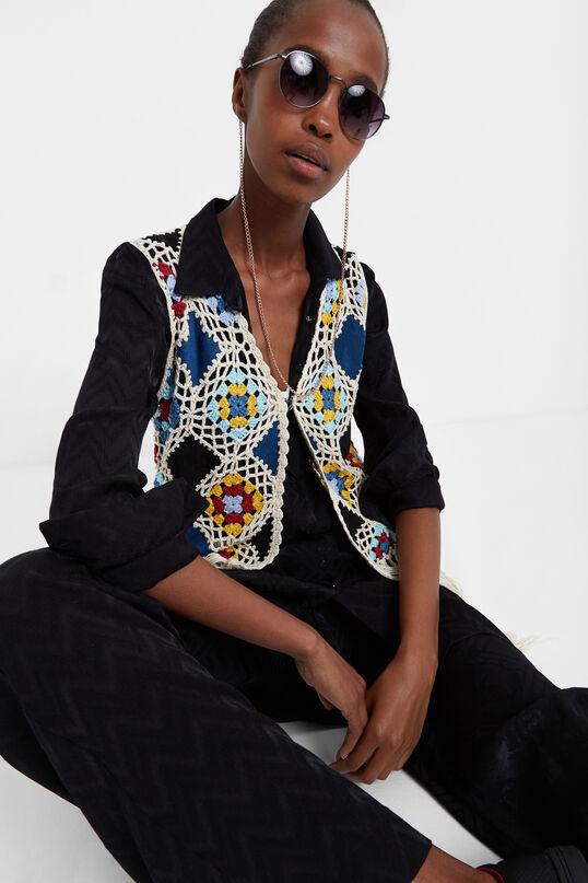 Gilet tricot frange | Desigual