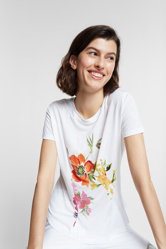 Eco-friendly floral T-shirt