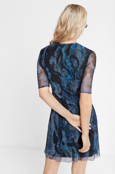 3D effect marbled dress | Desigual