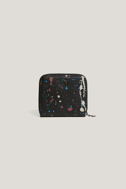 Square coin purse splashes