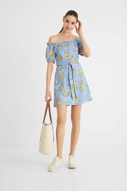 Korte jurk met citroenen