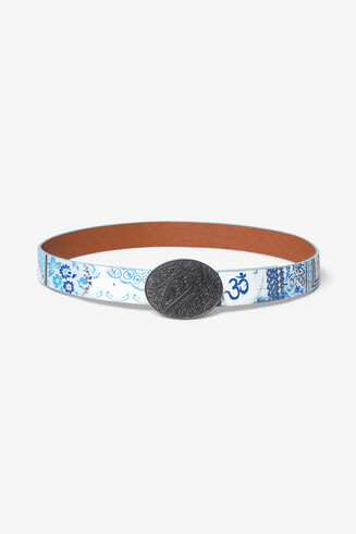 Reversible ethnic and floral belt