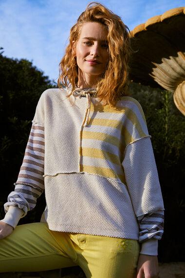 Kapuzen-Sweater Streifen