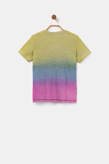 T-shirt tricolor com logótipo | Desigual