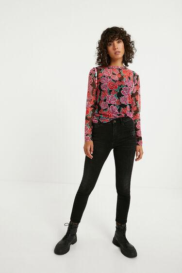 Camiseta slim flores | Desigual