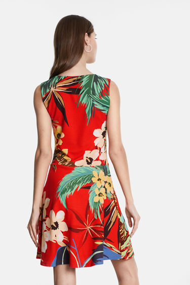 Short dress Hawaiian print | Desigual