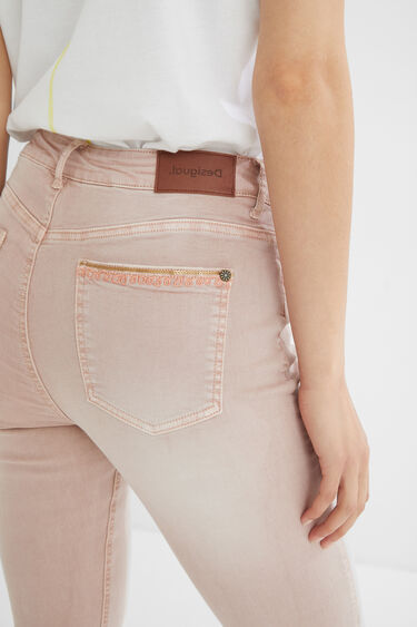 Skinny cropped jeans | Desigual