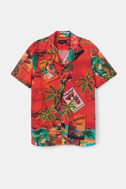 Hawaiian shirt 100% cotton
