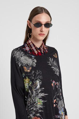 Oversized T-shirt met bloemen