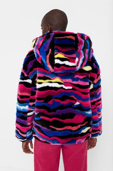 Plush hood jacket | Desigual
