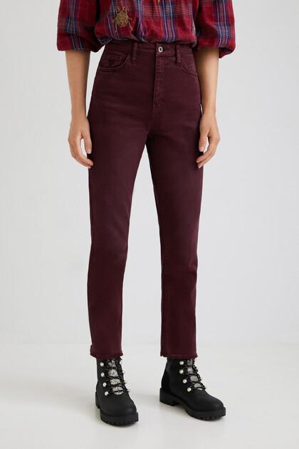 Pantalon straight chevilles