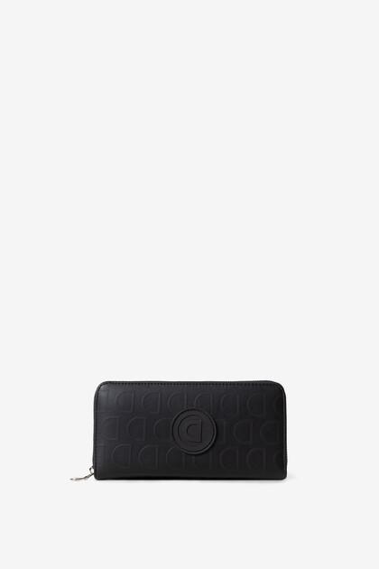 Zwarte portemonnee met logomania