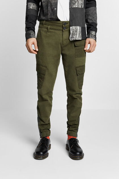 Baggy trousers cargo pockets