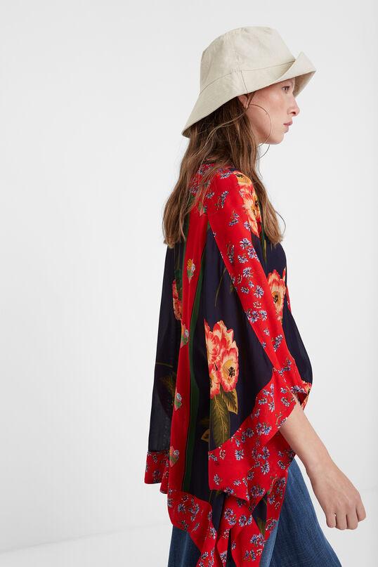 Patchwork poncho blouse   Desigual